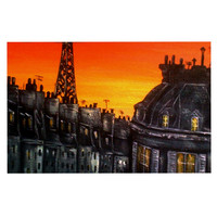 "Christen Treat ""Paris"" Decorative Door Mat"