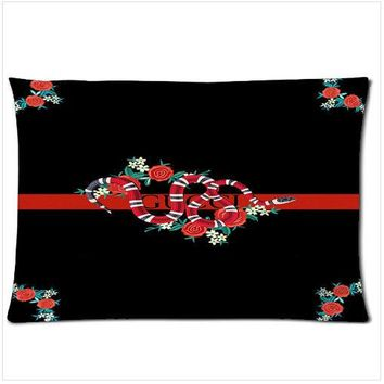 Gucci Flower Snake zippered pillow case size 18'' x 26'' two side