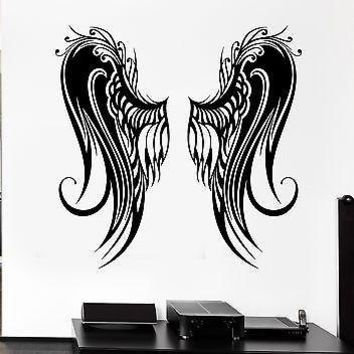 Wall Stickers Angel Wings Bird Flight Coolest Room Decor Vinyl Decal Unique Gift (ig2468)