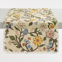 Floral Jute Hope Table Runner