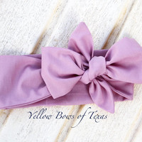 Mauve Infant Headband, Mauve Head Wraps for Women, Baby Headwrap, Pastel Baby Head Wrap, Baby Bow Headband, Mauve Top Knot, Toddler Headwrap