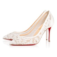Neoalto 85 Version Latte Lace - Women Shoes - Christian Louboutin
