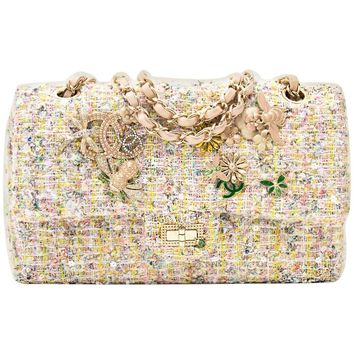 Chanel Tweed Garden Party 2.55 Reissue Flap Bag
