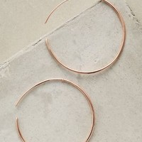 Carrie K. Rosegold Whispered Hoops in Rose Gold Size: One Size Earrings