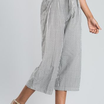 Astrid Black Stripe Pants