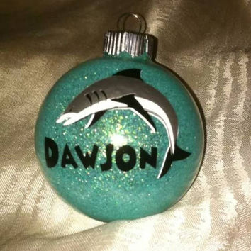 Shark ornament - shark lover - shark week - boy ornament personalized ornament