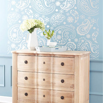 Wall Stencil  Paisley Flourish Lace Pattern Wall Room Decor Made by OMG Stencils Home Improvements Color Paintings 0039
