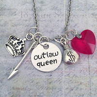 Outlaw Queen DELUXE Necklace - Fairytale Jewelry - Once Upon A Time Jewelry - OUAT Jewelry - Fandom Jewelry