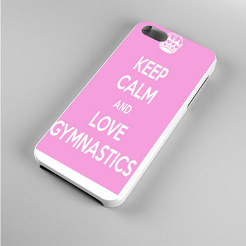 keep calm and love gymnastics pink Iphone 5s Case