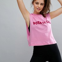 Twerk Out Work It Girl Muscle Tank at asos.com
