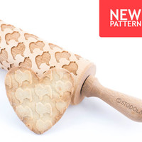 Keeshond - Embossed, engraved rolling pin for cookies