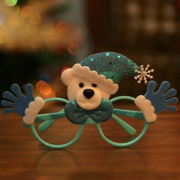 Christmas Cartoon Bear Glasses Frame Decoration