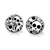 Day of the Dead Earrings Sugar Skull Jewelry Dia de los Meurtos Halloween Jewelry Skeleton Jewelry Skull Earrings Horror Gothic Bone Jewelry
