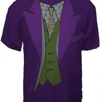 Batman Dark Knight The Joker Tux Purple Adult T-Shirt  - Batman - | TV Store Online