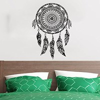 Wall Decal Dreamcatcher Dream Catcher Feathers Night Symbol Indian Vinyl Sticker Decals Home Decor Art Bedroom Design Interior C523