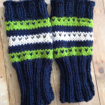 Seahawks Fingerless Gloves