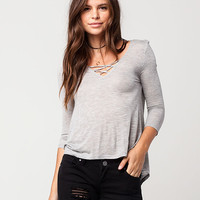 FULL TILT Lattice Womens Top | Knit Tops & Tees