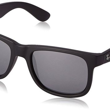 Cheap Ray-Ban RB4165 622/6G Justin Black Frame Grey Mirror 54mm Lens Sunglasses outlet