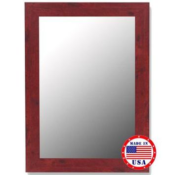 Hitchcock Butterfield Barn Red Framed Wall Mirror