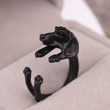 New Arrival Jewelry Stylish Shiny Gift Dogs Vintage Adjustable Animal Ring [6586078023]