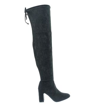 Weismann01 Drawstring Over Knee Slouch Boot - Womens Pull On Soft Stretchy Shoes
