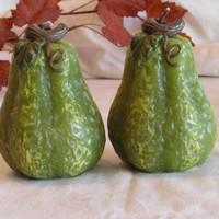 1970's Pear Candles Autumn Decor