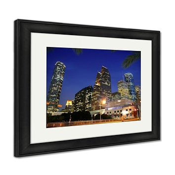 Framed Print, Dallas Downtown City Urban Bulidings View