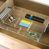 Expandable Hanging Makeup, Craft & Office Drawer Organizer - expands to fit multiple widths