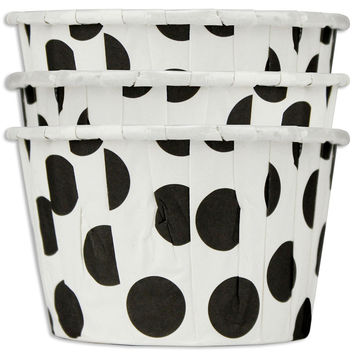 Black Jumbo Dot Nut Cups