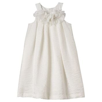 Jessica McClintock Crinkle Shimmer Trapeze Dress - Girls