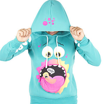 Girls Monster Gobble Popover Hoodie