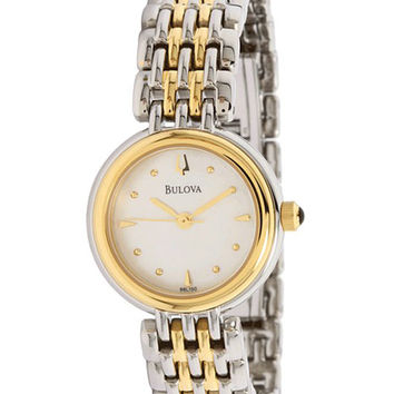 Bulova 98L150 Women's Quartz Two Tone SS MOP Dial Watch