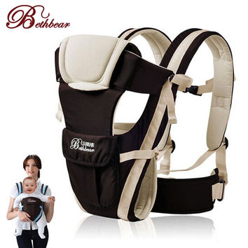 Deluxe Padded Adjustable Infant Carrier with Storage Pouch.