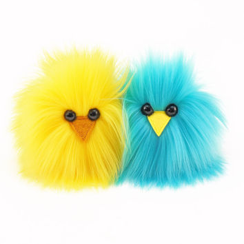 Micro Peep Chicks (Pair) Stuffed Animal Plush Toy