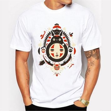 Asian Size fashion  men t-shirt short sleeve casual funny tee cartoon printed hipster tops
