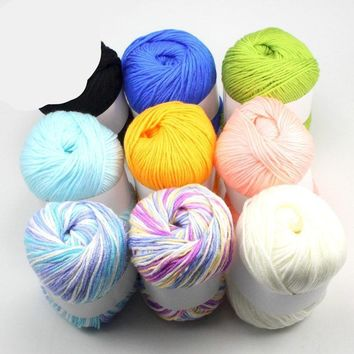 Multi Color Cotton Thick Yarn For Warm Sweater Crochet