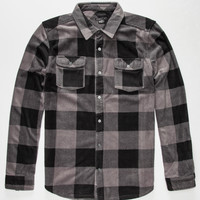 O'neill Superfleece Glacier Check Mens Flannel Shirt Grey  In Sizes