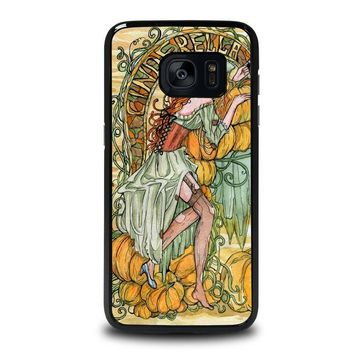 cinderella art disney samsung galaxy s7 edge case cover  number 4