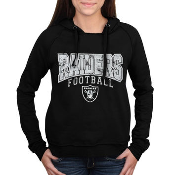 Oakland Raiders 5th & Ocean by New Era Women's Pullover Hoodie – Black