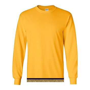 Youth Boys & Girls Yellow Gold Long Sleeve T-shirt With Fringes