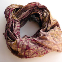 Silk Scarf woman FALL WINTER accesoriesRecycled sari by tocamade
