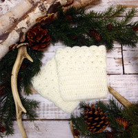 BOOTIE CUTIE crochet boot cuffs - cream