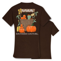 Southern Couture Preppy Pumpkin Stand Fall T-Shirt