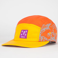 Skulls Foreign Family Coi Mens 5 Panel Hat Orange One Size For Men 22708670001