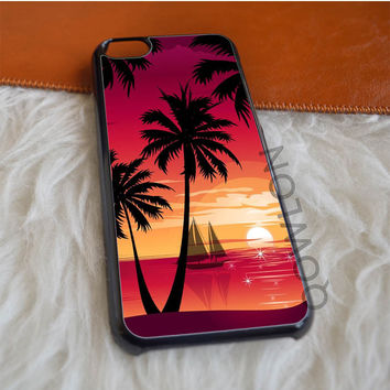 Palm Trees at Sunset iPhone 5C Case