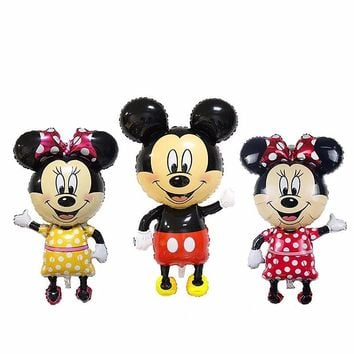 New 112*63cm Large size Cartoon Mickey Minnie mouse foil ballons baby toys balloons birthday party supplies decoration