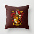 Harry potter Gryffindor team shield Throw Pillow case by Three Second