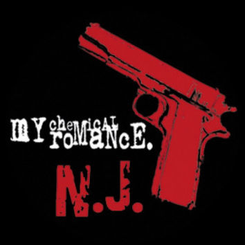 My Chemical Romance Vinyl Sticker NJ Pistol Logo