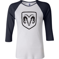 Dodge 3/4 Sleeve Baseball Ladies Jersey