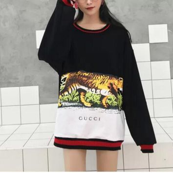 Gucci Long Sleeve Hooded Tank Print Tattoo Sweater